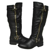 New Women's Black Fashion Boots  Knee High Shoes Winter Snow Ladies size 6