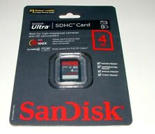 NEW SANDISK 4GB ULTRA SDHC MEMORY CARD CLASS 4 - 4GB FOR DIGITAL CAMERAS NEW
