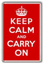KEEP CALM AND CARRY ON FRIDGE MAGNET IMÁN NEVERA