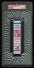PSA 3 KANSAS CITY SCOUTS 1975 Unused NHL Hockey Ticket at The Capital Centre