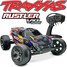 Traxxas 37076-4 Rustler VXL Brushless RC Stadium Truck w/TSM & Rock-N-Roll Body!