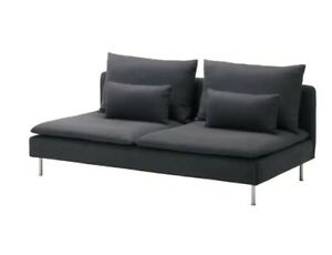 sofa seat covers - Ikea Soderhamn 3 seater without arms - Samsta dark grey