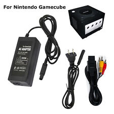 For Nintendo Gamecube New GC Power Supply Charger AC Adapter AV Cable Cord Plug