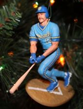 MILWAUKEE BREWERS ROBIN YOUNT CHRISTMAS TREE ORNAMENT vintage blue jersey