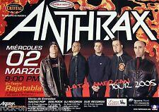 Anthrax 2005 Lot Of 2 Original Brazil Handbills & Concert Poster Scott Ian