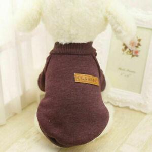 Pet Dog Fleece Coat Clothes Puppy Warm Cat Jacket Vest Apparel Chihuahua Sweater