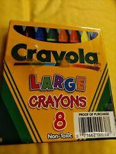 New Crayola 8 Large Nontoxic Coloring Crayons 52-0038-0-231 Vintage 2000