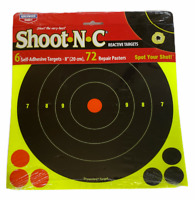 Birchwood Casey Shoot-N-C Target Bullseye with Pasters Pack of 6