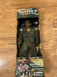 NO LIMIT TOYS MASTER P TALKING FIGURE Very Rare Working Vintage 90s Rapper Hat