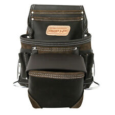 Adjustable Leather Tool Belt Pocket Pouch Bag Construction Carpenter AWP