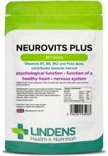 Neurovits Plus (90 Compresse) Vitamina B1 B6 B12 Acido Folico Lindens 5033