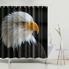 Bathroom Shower Curtain Eagle Design Bath Curtains Animal Decor Set 12 Hooks