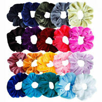 Lady Soft Velvet Scrunchies Hair Ring Elastic Stretch Hairtie Ponytail Holder Ya
