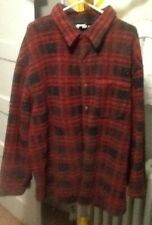 Woolrich red and black plaid 2XL jacket made in USA
