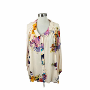 Free People Floral Pleat Back Rayon Tunic