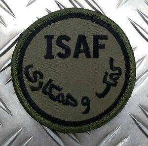 Genuine British ARMY ISAF International Security Assistance Force OD Badge IS1
