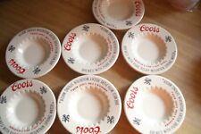 China Bar Coors logo beer ashtray white base