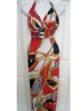 Summer Women Leopard V-Neck Beach Boho Maxi Sundress Evening Party Long Dress