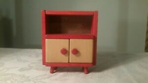 Vintage Triang And Lundby Size Dolls House Wooden And Red Dresser Lovely Conditi