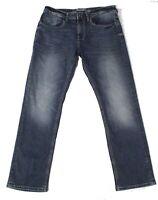 Buffalo David Bitton Mens Jeans Blue Size 32X30 Straight Leg Stretch $109 367