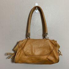 Tre Vero Brown 100% Genuine Pebbled Leather Shoulder Hand Bag Purse Satchel