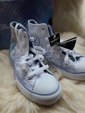 NEW Disney Frozen 2 Elsa Youth Converse All Star High Tops girls size 13