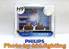 PHILIPS H9 12V 65W BLUE VISION 4000K WHITE HALOGEN BULBS lamp light HIGH BEAM