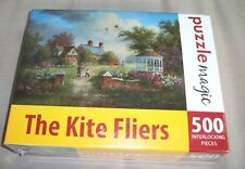 Puzzle Magic The Kite Fliers 500 Piece Puzzle New Sealed