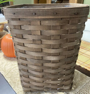 VINTAGE LONGABERGER SMALL WASTE BASKET WITH PROTECTOR 1981