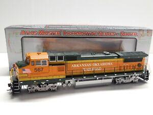 HO Scale Atlas Silver Arkansas Oklahoma Dash 8-40BW Diesel Locomotive Train #567
