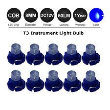 10x T3 LED Car Instrument Dash Board Cluster Gauges Lights Bulbs 12V Bright Blue