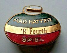 "Vintage Curling Pin - Mad Hatter ""B"" Fourth Spiel"
