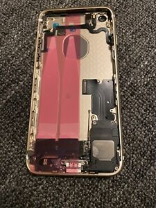 Backcover für iPhone 7 in Gold  VORMONTIERT Gehäuse Rückseite + Vibrator