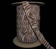 """5 Yards Vintage Animal Print Zebra Velvet Trim Ribbon 7/8""""W"""