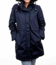 Damen DREIMASTER  Parka Gefüttert Herbst Winter Jacke Mantel mit Kapuze Blau