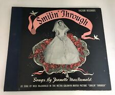 """ANTIQUE RCA VICTOR RED SEAL 2 MGM 12"""" RECORD ALBUM MOVIE TRACK SMILIN THROUGH"""