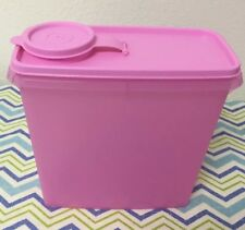 Tupperware Cereal Keeper Modular Mates Canister Pink w/ Matching Seal 11 Cups