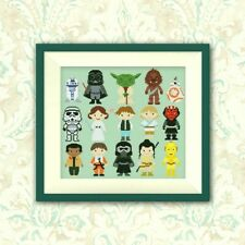 Star Wars Mini's B/W Cross Stitch Chart BUY 1 GET 1 HALF PRICE