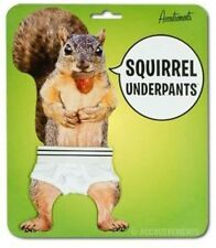 Squirrel Underpants - White Cotton Jockey Doll Accessories Novelty Fun Gag Gift