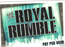 Slam Attax Evolution - Pay Per View - Royal Rumble