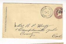 1887 Smartsville, Yuba County California, Enclosures with Western Union Telegram