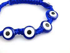 Evil Eye Hand Plaited Turkish Beads Gourmette Lucky Charm Adjustable Bracelet