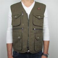 Autumn Cotton Mens Fishing Vest travel safari waistcoat hunting work vest jacket
