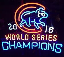"New Chicago Cubs 2016 World Series Champions Neon Light Sign 24""x20"""