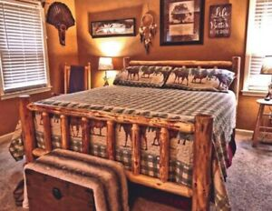 Rustic Log Bed! MOST SOLD on Ebay! NEW LOWER PRICE!  #1 Seller!  MOST SOLD!!