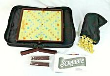Game Folio Edition Scrabble Crossword Game 2001 Zip Travel Case Parker Brothers