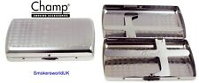 Cigarette Case -- Champ Small Chrome Design King Size -- NEW chks4