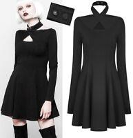 Robe patineuse gothique punk lolita fashion évasé col croisé collier Punkrave