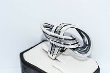 925 STERLING SILVER SOLID HANDMADE UNIQUE RING SIZE UK- M  / US - 6.5