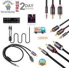 Cable RCA De 6 Pies, 3.5 Mm A 2 Rca Auxiliar De Audio Estereo, Y Splitter RCA